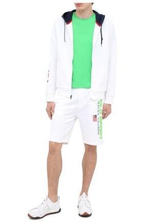 Мужские шорты POLO RALPH LAUREN белого цвета, арт. 710800487 | Фото 2