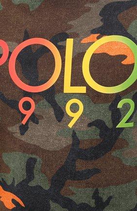 Мужская хлопковая футболка POLO RALPH LAUREN хаки цвета, арт. 710803497 | Фото 5