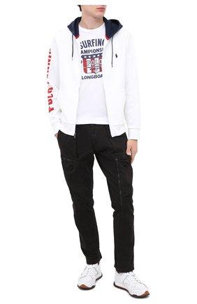 Мужская хлопковая футболка POLO RALPH LAUREN белого цвета, арт. 710803500 | Фото 2