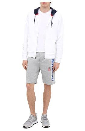 Мужские хлопковые шорты POLO RALPH LAUREN серого цвета, арт. 710800487003 | Фото 2