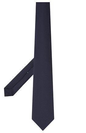 Мужской шелковый галстук LUIGI BORRELLI темно-синего цвета, арт. LC80-B/TT9061 | Фото 2