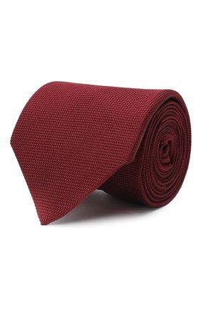 Мужской шелковый галстук LUIGI BORRELLI бордового цвета, арт. LC80-B/TT9061 | Фото 1