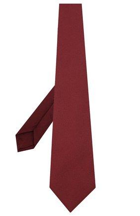 Мужской шелковый галстук LUIGI BORRELLI бордового цвета, арт. LC80-B/TT9061 | Фото 2