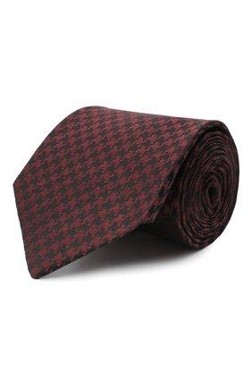 Мужской шелковый галстук LUIGI BORRELLI бордового цвета, арт. LC80-B/TT30000 | Фото 1