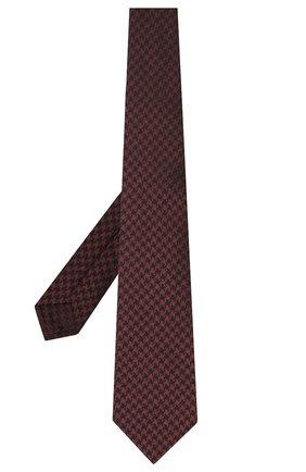 Мужской шелковый галстук LUIGI BORRELLI бордового цвета, арт. LC80-B/TT30000 | Фото 2