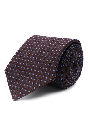Мужской шелковый галстук LUIGI BORRELLI бордового цвета, арт. LC80-B/TT30004 | Фото 1
