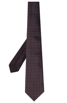 Мужской шелковый галстук LUIGI BORRELLI бордового цвета, арт. LC80-B/TT30004 | Фото 2