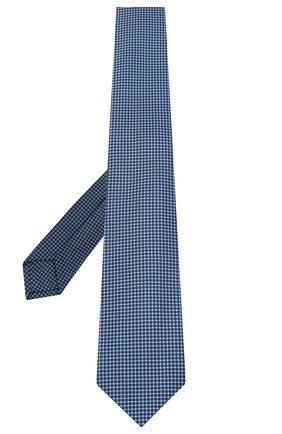 Мужской шелковый галстук LUIGI BORRELLI темно-синего цвета, арт. LC80-B/TT30035 | Фото 2