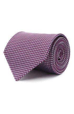 Мужской шелковый галстук LUIGI BORRELLI сиреневого цвета, арт. LC80-B/TT30035 | Фото 1