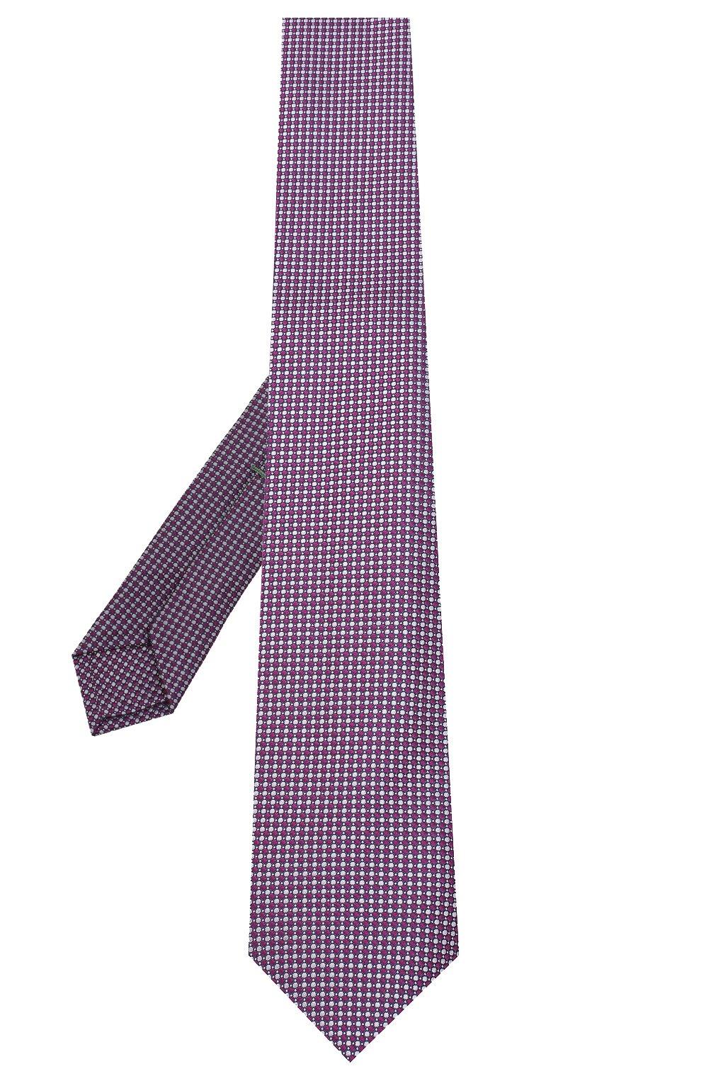 Мужской шелковый галстук LUIGI BORRELLI сиреневого цвета, арт. LC80-B/TT30035 | Фото 2