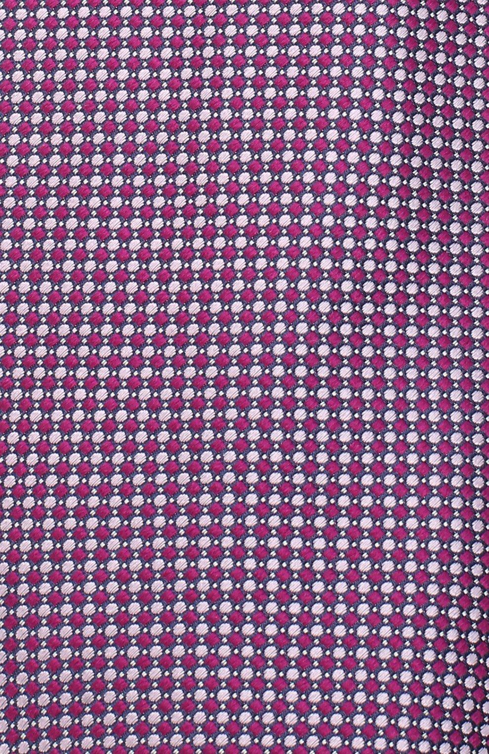 Мужской шелковый галстук LUIGI BORRELLI сиреневого цвета, арт. LC80-B/TT30035 | Фото 3