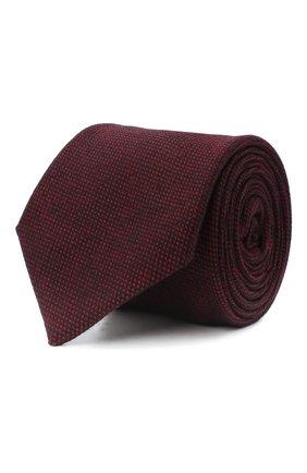 Мужской шерстяной галстук LUIGI BORRELLI бордового цвета, арт. LC80-B/TT30133 | Фото 1