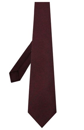 Мужской шерстяной галстук LUIGI BORRELLI бордового цвета, арт. LC80-B/TT30133 | Фото 2