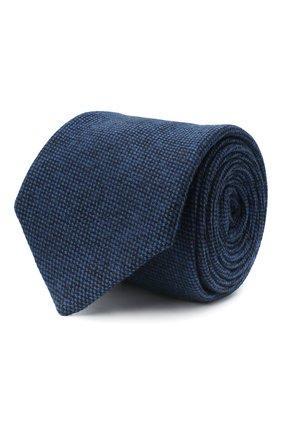 Мужской шерстяной галстук LUIGI BORRELLI синего цвета, арт. LC80-B/TT30133 | Фото 1