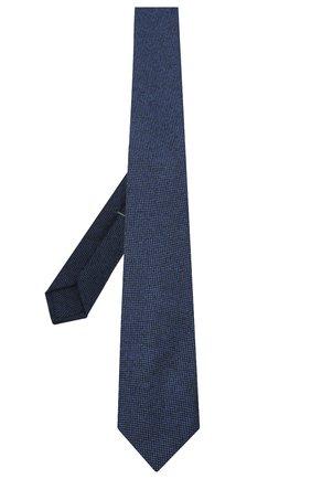 Мужской шерстяной галстук LUIGI BORRELLI синего цвета, арт. LC80-B/TT30133 | Фото 2
