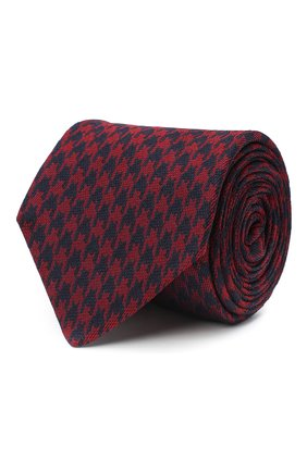 Мужской шелковый галстук LUIGI BORRELLI бордового цвета, арт. LC80-B/TT30154 | Фото 1