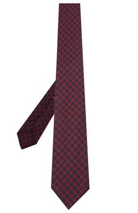 Мужской шелковый галстук LUIGI BORRELLI бордового цвета, арт. LC80-B/TT30154 | Фото 2