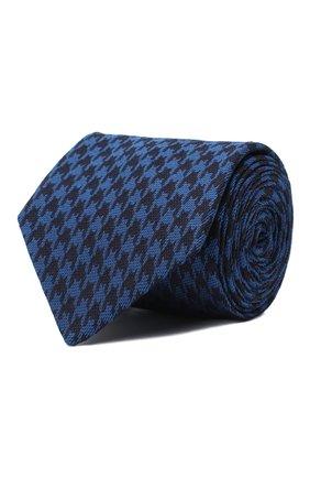 Мужской шелковый галстук LUIGI BORRELLI синего цвета, арт. LC80-B/TT30154 | Фото 1