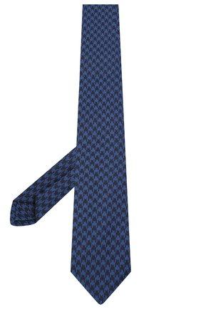 Мужской шелковый галстук LUIGI BORRELLI синего цвета, арт. LC80-B/TT30154 | Фото 2
