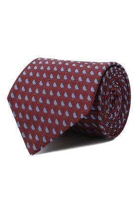 Мужской шелковый галстук LUIGI BORRELLI бордового цвета, арт. LC80-B/TT30283 | Фото 1