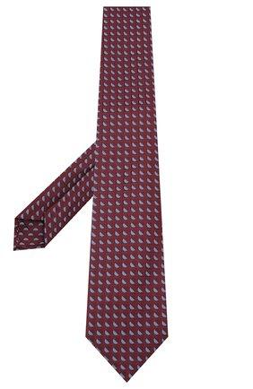 Мужской шелковый галстук LUIGI BORRELLI бордового цвета, арт. LC80-B/TT30283 | Фото 2