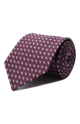 Мужской шелковый галстук LUIGI BORRELLI сиреневого цвета, арт. LC80-B/TT30283 | Фото 1