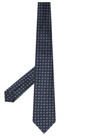 Мужской шелковый галстук LUIGI BORRELLI темно-синего цвета, арт. LC80-B/TT30284 | Фото 2