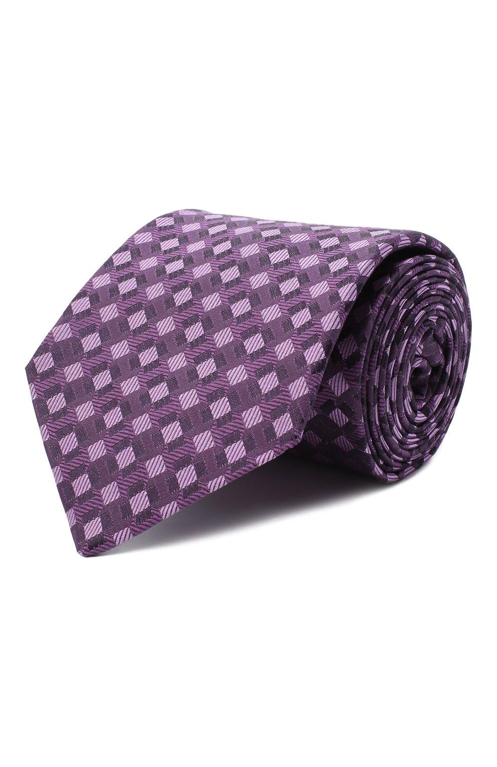 Мужской шелковый галстук LUIGI BORRELLI сиреневого цвета, арт. LC80-B/TT30284   Фото 1