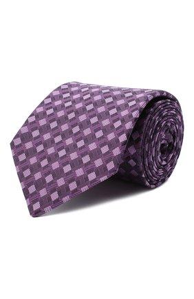 Мужской шелковый галстук LUIGI BORRELLI сиреневого цвета, арт. LC80-B/TT30284 | Фото 1