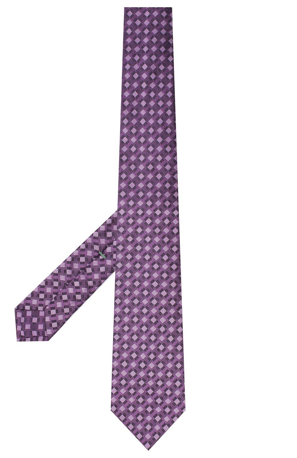 Мужской шелковый галстук LUIGI BORRELLI сиреневого цвета, арт. LC80-B/TT30284   Фото 2