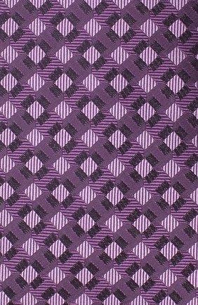 Мужской шелковый галстук LUIGI BORRELLI сиреневого цвета, арт. LC80-B/TT30284   Фото 3
