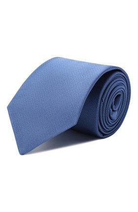 Мужской шелковый галстук LUIGI BORRELLI синего цвета, арт. LC80-B/TT9089 | Фото 1