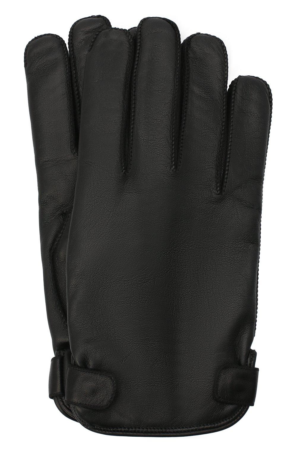 Мужские кожаные перчатки ERMENEGILDO ZEGNA черного цвета, арт. Z8G52/G8C   Фото 1