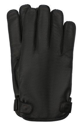 Мужские кожаные перчатки ERMENEGILDO ZEGNA черного цвета, арт. Z8G52/G8C | Фото 1