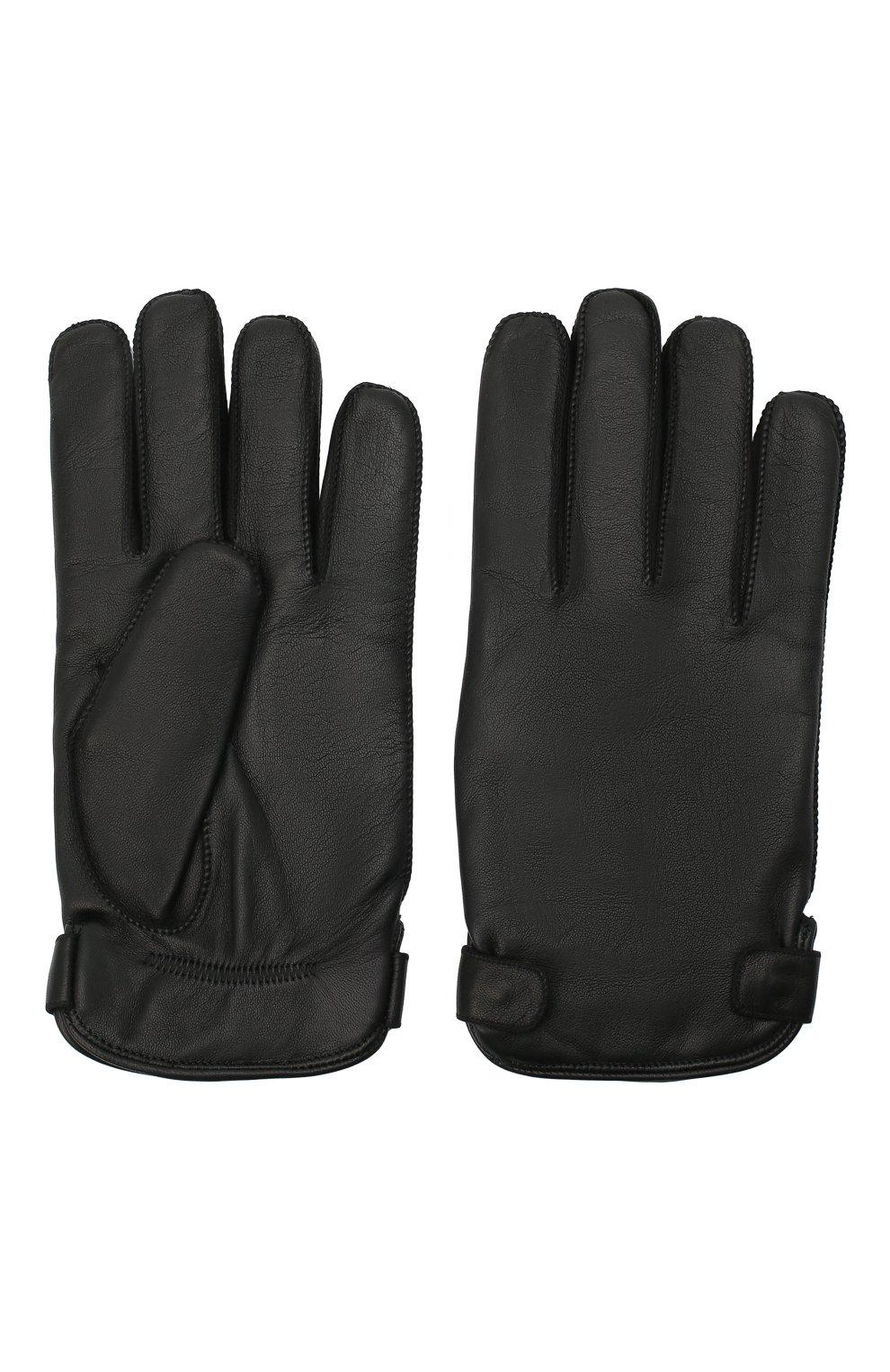 Мужские кожаные перчатки ERMENEGILDO ZEGNA черного цвета, арт. Z8G52/G8C   Фото 2