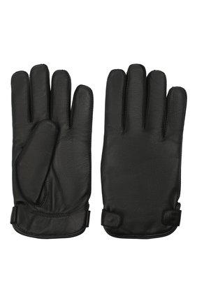 Мужские кожаные перчатки ERMENEGILDO ZEGNA черного цвета, арт. Z8G52/G8C | Фото 2