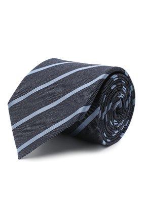 Мужской шелковый галстук ERMENEGILDO ZEGNA синего цвета, арт. Z8D34/1UM   Фото 1