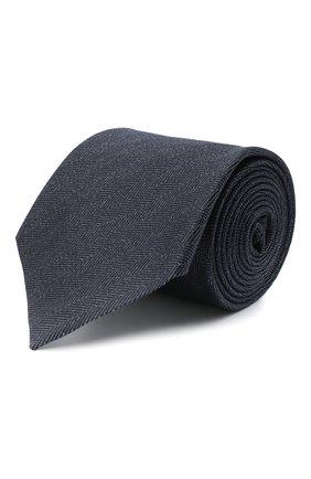 Мужской шелковый галстук ERMENEGILDO ZEGNA темно-синего цвета, арт. Z8D30/1UM | Фото 1