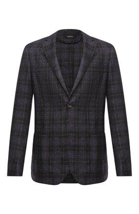 Мужской шерстяной пиджак Z ZEGNA фиолетового цвета, арт. 854768/1D7SG0 | Фото 1