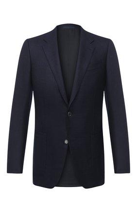 Мужской шерстяной пиджак ERMENEGILDO ZEGNA темно-синего цвета, арт. 852074/122520 | Фото 1