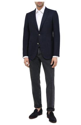 Мужской шерстяной пиджак ERMENEGILDO ZEGNA темно-синего цвета, арт. 852074/122520 | Фото 2