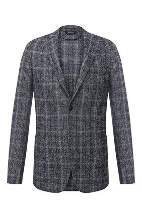 Мужской шерстяной пиджак Z ZEGNA серого цвета, арт. 850776/1D7SG0 | Фото 1