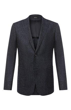 Мужской шерстяной пиджак Z ZEGNA темно-синего цвета, арт. 850732/1VRUG0 | Фото 1