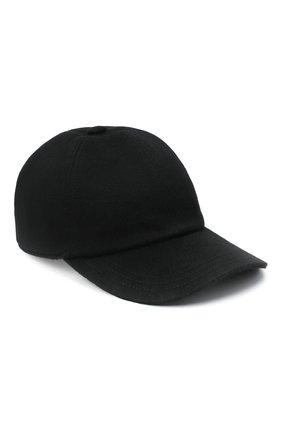 Мужской кашемировая бейсболка ZEGNA COUTURE черного цвета, арт. ZEI82/B2I | Фото 1