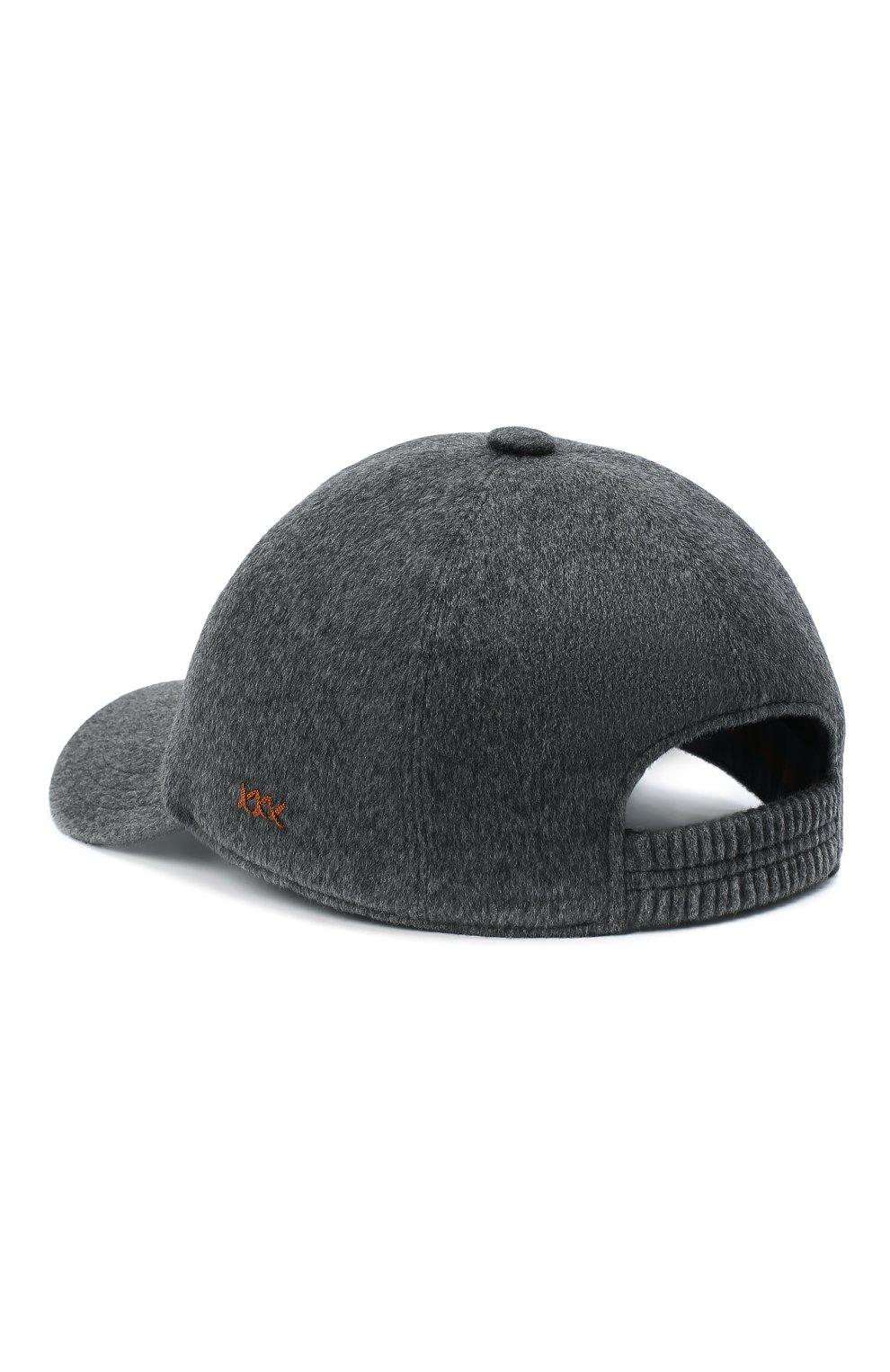 Мужской кашемировая бейсболка ZEGNA COUTURE светло-серого цвета, арт. ZEI82/B2I   Фото 3