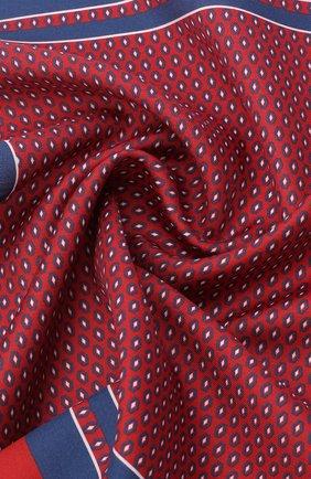 Мужской платок из хлопка и шелка ERMENEGILDO ZEGNA красного цвета, арт. Z8J15/38B | Фото 2