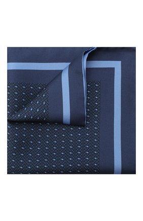 Мужской шелковый платок ERMENEGILDO ZEGNA синего цвета, арт. Z8J05/39C   Фото 1