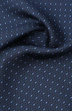 Мужской шелковый платок ERMENEGILDO ZEGNA синего цвета, арт. Z8J05/39C   Фото 2