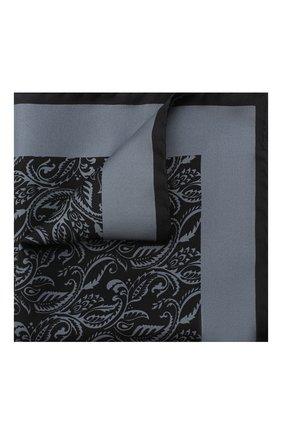 Мужской шелковый платок ERMENEGILDO ZEGNA серого цвета, арт. Z8J04/39A | Фото 1