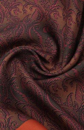 Мужской шелковый платок ERMENEGILDO ZEGNA оранжевого цвета, арт. Z8J04/39A | Фото 2